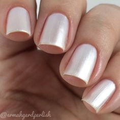 vanilla frosting  creamy white pearlescent nail by CJLacquer, $9.00