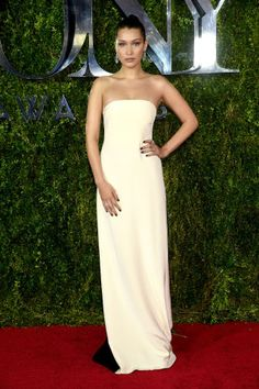 See all the best red carpet fashion spotted at tonight's 2015 Tony Awards: Bella Hadid