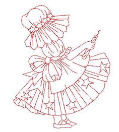 LURASQUINHO naughty: Paint, embroider or make dolls patchcolagem Hand Embroidery Patterns, Applique Patterns, Applique Quilts, Embroidery Applique, Cross Stitch Patterns, Machine Embroidery, Embroidery Designs, Sunbonnet Sue, Girls Quilts