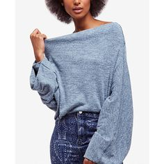 6273031dc6a3ed Free People Skyline Off-The-Shoulder Thermal Sweater ( 68) ❤ liked on