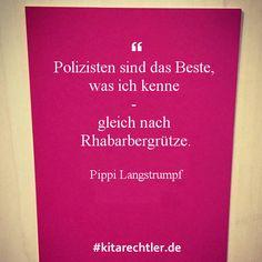 Kleine Kita-Weisheit. Auch wenn Pippi Langstrumpf im Kindergarten vielleicht nicht mehr ganz so populär ist, wie Elsa & Anna ;o) kitarechtler.de