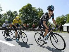Chris Froome and Richie Porte finishing 1-2 in the 10th stage of #TDF2015