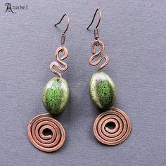 """Медные серьги """"Зарождение"""" / Copper earrings"""