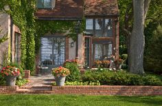 beauty remodelling of brick patio outdoor wall decorate. 88 outdoor patio design ideas brick flagstone covered patios more. brick patio with pergola designs. Patio Design, Exterior Design, House Design, Driveway Design, Brick Design, Garden Windows, Tudor House, Tudor Cottage, French Cottage