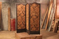 Before: Dated Dressing Screen Dressing screens exude old-school elegance, but this one is a bit dated for most modern homes.