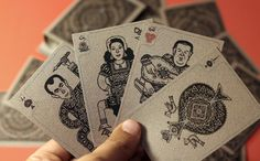 my own people playing cards by Wael Azzam, via Behance