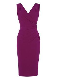 Rouched V Neck Dress