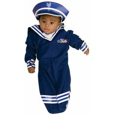 Check out this adorable infant sailor bunting costume. Here just in time for baby's first Halloween your pictures will be adorable and memorable. Sailor Costumes, Cute Costumes, Super Hero Costumes, Group Costumes, Disney Costumes, Baby Halloween Costumes Newborn, Babys 1st Halloween, Toddler Costumes, Halloween 2015