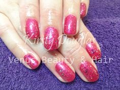 The ever so beautiful, Warm Up The Carnation topped with Shattered Beauty for Lovely Lin's Re-Gelish with Kirsty