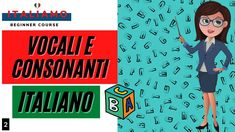 Le VOCALI e CONSONANTI italiane Youtube, Youtubers, Youtube Movies