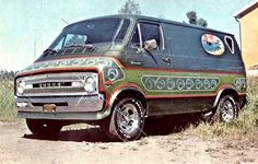 The Green Van Appreciation Society Dodge Van, Chevy Van, Pick Up, Ford Van Conversion, Old School Vans, Day Van, Cool Vans, Dodge Trucks, Dodge Pickup