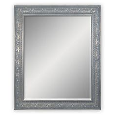 Belle Maison Silver Finish Floral Wall Mirror