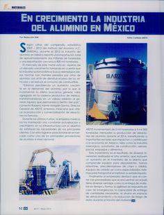 Reportaje, revista IDM Infraestructura y desarrollo en México - Mayo 2014: En crecimiento la industria del aluminio en México.   ARZYZ