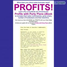 Learn How To Maximize Your Profits With Your Home Party Plan And Direct Sales Business See more! : http://get-now.natantoday.com/lp.php?target=partyplans