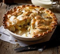 Grind up nuts to work into a crispy, shortcrust pastry then bake a countryside fruit pie with ginger and sultanas