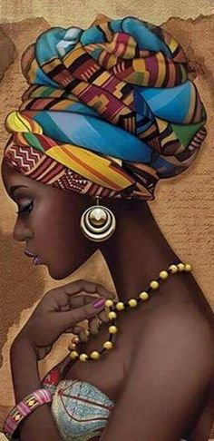 Check out our diamond painting selection for the very best in unique or custom, handmade pieces from our wall hangings shops. Afro Punk, Black Love Art, Black Girl Art, Art Girl, African Drawings, African Art Paintings, Black Art Painting, Black Artwork, Afrika Tattoos