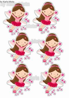 Cupcake Toppers, Clip Art, Digital, Vintage, Stationery Shop, Fairies, Stickers, Molde, Sweet Pastries