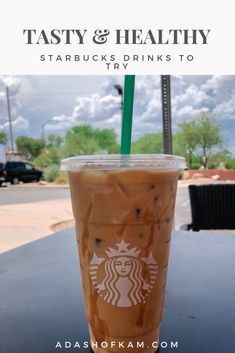 Do you love Starbucks? A lot of the drinks on the Starbuck's menu are pretty hefty in the calorie department Here are 5 healthy Starbucks drinks to try out! Low Calorie Starbucks Drinks, Healthy Starbucks Drinks, Low Calorie Drinks, Healthy Drinks, Eating Healthy, Clean Eating, Sugar Free Starbucks Drinks, Starbucks Diy, How To Order Starbucks