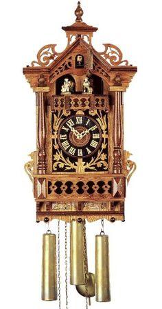 German Antique replica clock 8-day-movement 17.70 inch - Authentic bla
