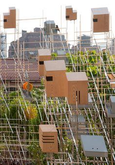 Sarah Sze. NYC High Line. Still life with landscape