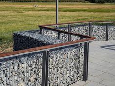 Pasarela sobre el Río Mongent / Alfa Polaris | Plataforma Arquitectura Landscape Walls, Stairways, Architecture Details, Fence, Facade, Entryway Tables, Construction, Exterior, River