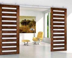 Modern Glass Barn Doors