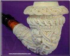 Floral Calabash Meerschaum Pipe # 2