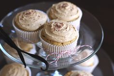 Vanilla Toffee Quinoa Cupcakes with Toffee Frosting:  sugar free, low fat, high protein, GF, vegan