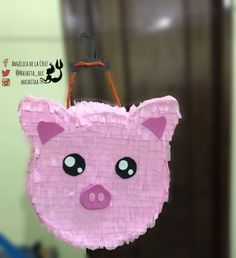 Piñata de cerdito Farm Themed Party, Farm Party, Christmas Gift Exchange, Farm Fun, Pig Party, Farm Birthday, Ideas Para Fiestas, Little Pigs, Cute Diys