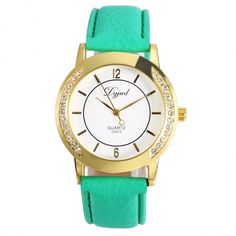 Material: Metal Back Material: Stainless Steel Dial Window Material: Glass Watchband Material: Synthetic Leather 3 Colors available: White, Green, Black Watchband Width: 2cm Watchband Circumference: 1