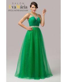Večerné šaty Luisa smaragdové