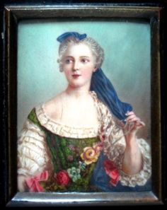 Antique French Portrait Miniature Painting on Ivory Hand Painted Signed Maron | eBay