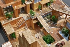 The Japanese architect Sou Fujimoto designed a new type of rental space upon request of the firm Dailto Trust Construction, as part of the House Vision which Sou Fujimoto, Co Housing, Social Housing, Japanese Architecture, Space Architecture, Casa Patio, Futuristic Home, Kengo Kuma, Architectural Digest