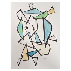 Steve McElroy Original India Ink and Pencil Drawing on Paper, Signed, Framed | See more antique and modern Drawings at https://www.1stdibs.com/furniture/wall-decorations/drawings