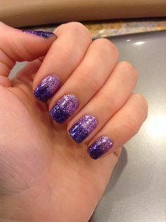 Ombre glitter nail