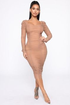 Ready And Ruched Mesh Midi Dress - Blue, Dresses | Fashion Nova Leather Midi Dress, Satin Midi Dress, Navy Midi Dress, Long Sleeve Midi Dress, Tube Dress, Dress Black, Off White Dresses, Blush Dresses, Metallic Mini Dresses