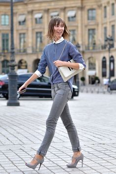 Grey #denim #jeans