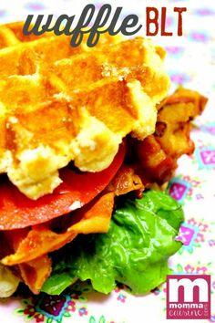 Waffle BLT Sandwich by @mommacuisine. #GreatEverydayMeals #wafflerecipes #sandwichrecipes #backtoschool www.mommacuisine.com