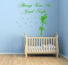 Wall Decals Quote Fairy Girl Nursery Room Vinyl Sticker Murals Wall Decor KG133