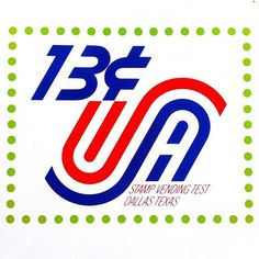 Proposed postage stamp design by Herb #Lubalin and Tom Carnase, c.1970. @uniteditions   via @wayneford