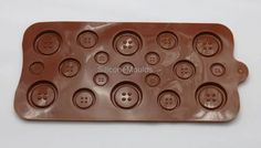 CHOCOLATE MOULDS – BUTTONS Silicone Chocolate Mold Fondant Sugarpaste