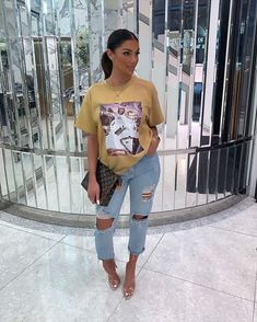 missy empire Scarlet Gold Missy Empire Table Graphic Oversized T-Shirt Cute Casual Outfits, Retro Outfits, Stylish Outfits, Girl Outfits, Summer Outfits, Fashion Outfits, Jean Outfits, Mode Streetwear, Streetwear Fashion