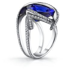 Selfless Solid 18k White Gold Natural Stunning Blue Vvs Tanzanite Full Cut Diamond Ring Carefully Selected Materials Jewelry & Watches