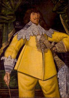 Unknown gentleman 1620/1650. Love the gauntlets!