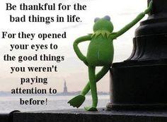 人生で起こる嫌な出来事に感謝しよう 嫌なことがあるからこそ、 今まで注意を払っていなかった素晴らしいものが見えるようになるのだから