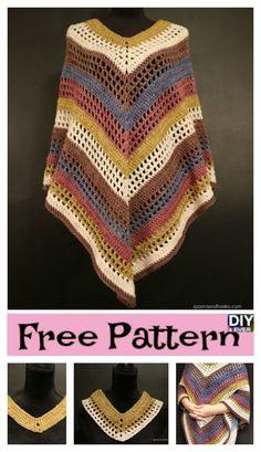 Easiest Crochet Lightweight Poncho – Free Pattern #freecrochetpattern  #poncho #freepattern