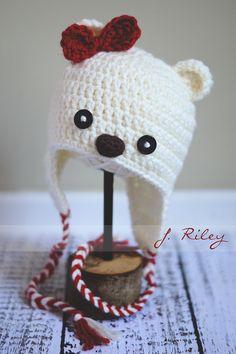 Candy Cane Baby Bear Crochet Hat Inspiration Check more at http://hrenoten.com Check more at http://hrenoten.com