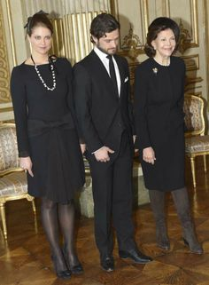 MYROYALS  FASHİON: Princess Madeleine, Prince Carl Gustaf and Queen Silvia, in mourning for Princess Lilian, welcome a state visit from Turkey to Sweden