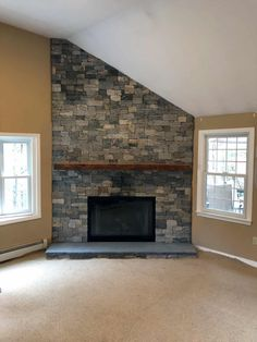 This sleek Boston Blend fireplace is on point. | Stoneyard®