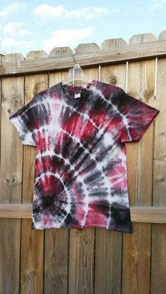 Tie Dye Shirt Black and Red Tie Dye Shirt by MessyMommasTieDyes